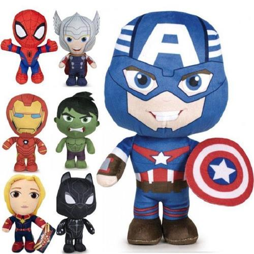 PTS PELUCHE PELUCHE PELUCHE MARVEL 7 ASSORTITI 40CM PTS