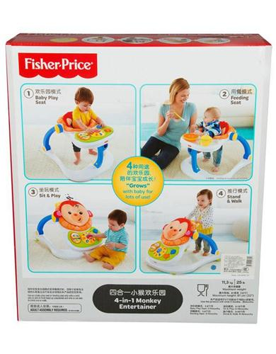 FISHER PRICE PRIMA INFANZIA PRIMI GIOCHI 4IN1 CENTRO ATTIVITA  MONKEY FISHER PRICE