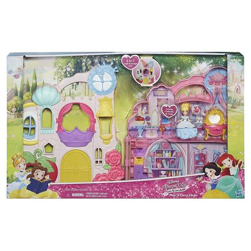 HASBRO BAMBOLE ACCESSORI PER BAMBOLE DISNEY PRINCESS CASA 2IN1 RICHIUDIBILE+DOLL