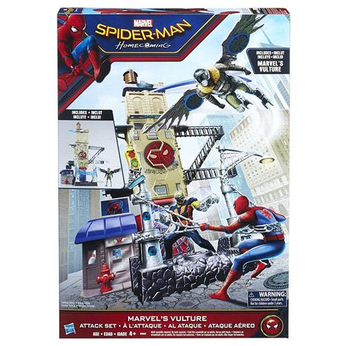 HASBRO GIOCATTOLI PERSONAGGI SPIDERMAN PLAYSET ATTACK SET 56.9CM