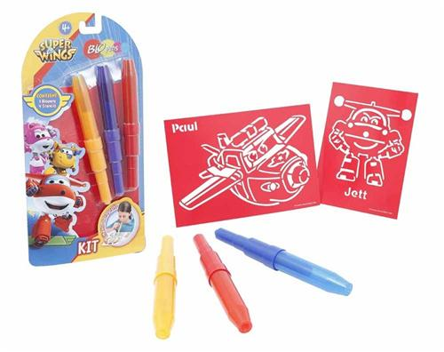 AUGURI PREZIOSI GIOCHI EDUCATIVI GIOCHI CREATIVI SUPER WINGS BLO PENS KIT 3 PZ