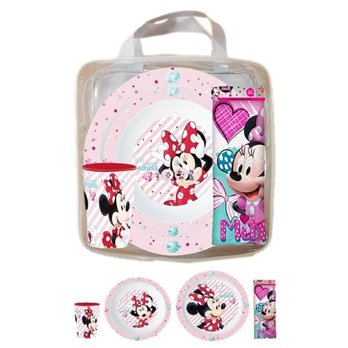 REAL TRADE ITALIA SRLS SCOLASTICA SET PAPPA MINNIE SET PAPPA 4PZ