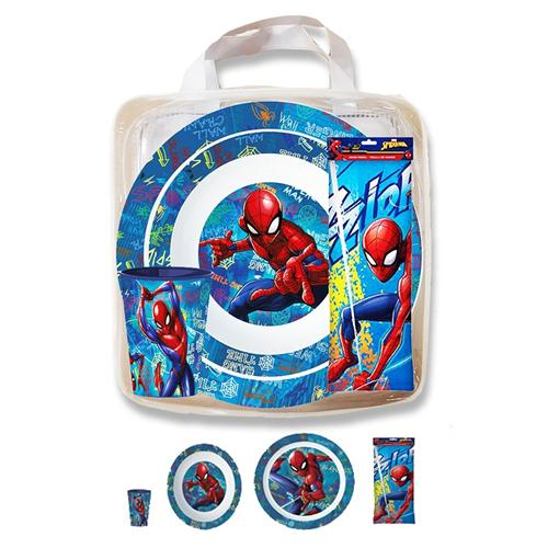 REAL TRADE ITALIA SRLS SCOLASTICA SET PAPPA SPIDERMAN BORSETTA CON SET PAPPA 3PEZZI