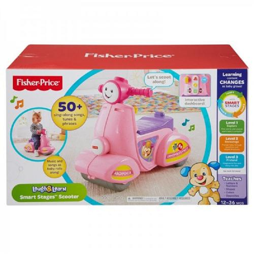 FISHER PRICE PRIMA INFANZIA CAVALCABILE SCOOTER PRIMI PASSI ROSA INTER. FISHERP.