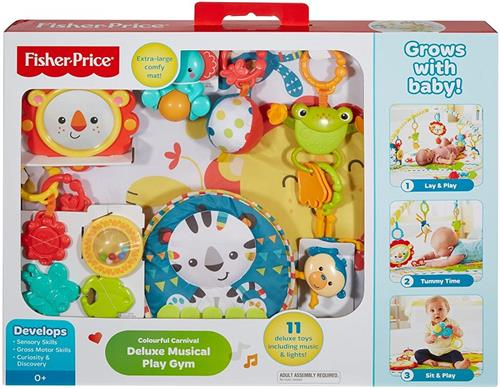 FISHER PRICE PRIMA INFANZIA PALESTRINE E TAPPETI PALESTRINA DELUXE MUSICALE PLAY GYM DPX77