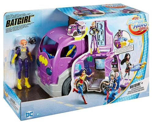 MATTEL BAMBOLE BAMBOLE SUPER HERO GIRLS BAT GIRL + VEICOLO DA MISSIONE