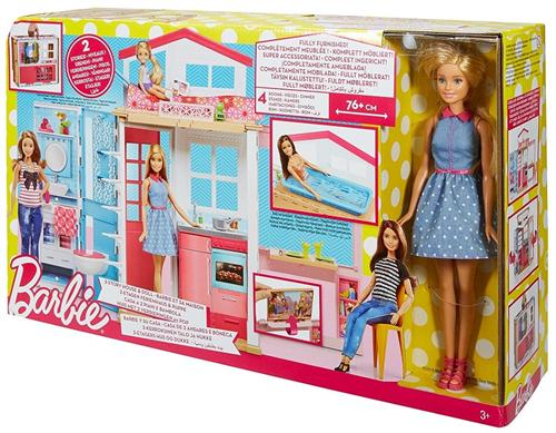 MATTEL BAMBOLE ACCESSORI PER BAMBOLE BARBIE CASA NEW 2 PIANI PIU' FASHION DOLL