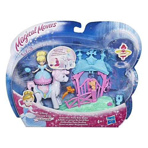 HASBRO BAMBOLE BAMBOLE DISNEY PRINCESS MAGICAL MOVERS PLAYSET ASS.