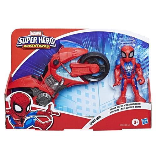HASBRO GIOCATTOLI PERSONAGGI SUPER HERO ADVENTURES PERS. MINI CON MOTO ASS. HASBRO