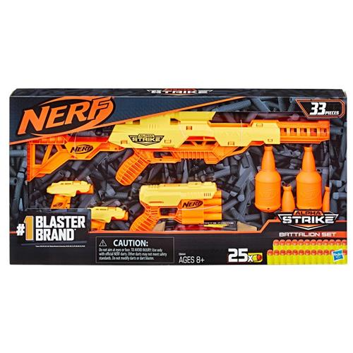 HASBRO GIOCATTOLI ARMI E TRAVESTIMENTI NERF ALPHASTRIKE BATTALION SET NEW TV