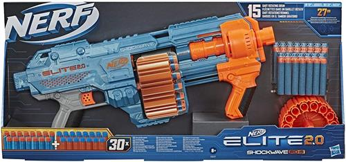 HASBRO GIOCATTOLI ARMI E TRAVESTIMENTI NERF ELITE 2.0 SHOCKWAVE RD 15 NEW