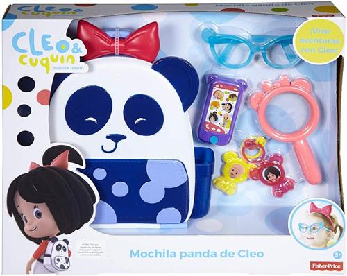 FISHER PRICE ACCESSORI  BORSE CLEO E CUQUIN ZAINETTO PANDA E ACC. FISHER P.