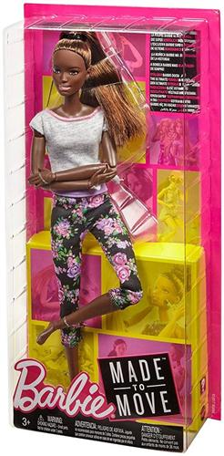MATTEL BAMBOLE BAMBOLE BARBIE SNODATA MADE TO MOVE