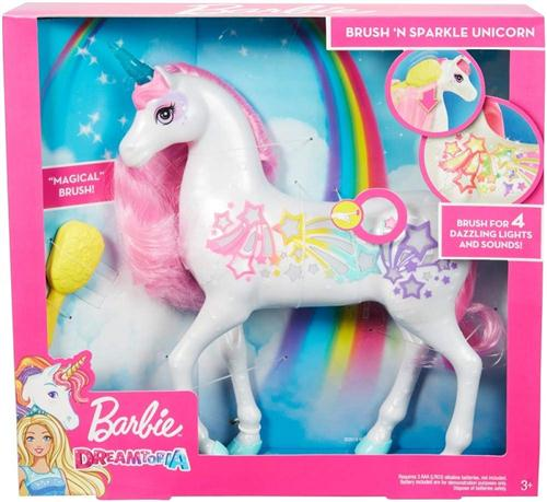 MATTEL GIOCATTOLI ANIMALI BARBIE UNICORNO PETTINA E BRILLA