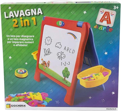 GIOCHERIA GIOCHI EDUCATIVI LAVAGNE GIOCHERIA LAVAGNA 2 IN 1 CON ACCESSORI