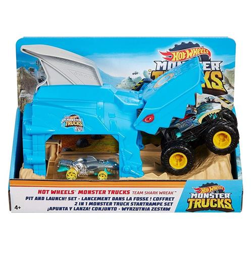 MATTEL GIOCATTOLI AUTO E VEICOLI VARI HOT WHEELS MONSTER TRUCKS LANCIATORE 2IN1 ASS.
