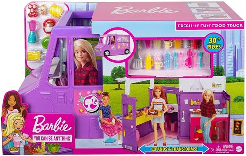 MATTEL BAMBOLE ACCESSORI PER BAMBOLE BARBIE FOOD TRUCK NEW TV  GMW07