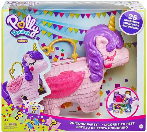 MATTEL GIOCATTOLI ACCESSORI PER BAMBOLE POLLY POCKET UNICORN PARTY 25 SORPR. MATTEL