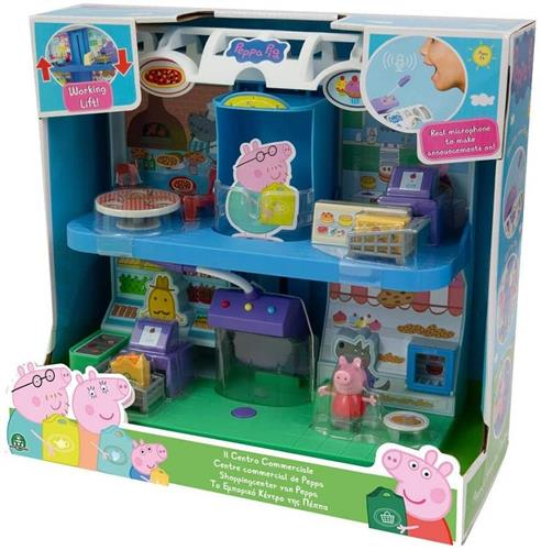 GIOCHI PREZIOSI GIOCATTOLI PLAY SET PEPPA PIG PLAY SET CENTRO COMMERCIALE NEW