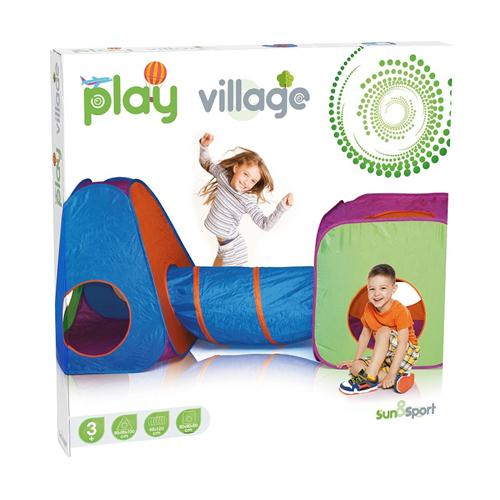 GIOCHERIA GIOCATTOLI GIOCHI DA CAMERA  PLAY VILLAGE 3IN1 SET TENDA RDF51664