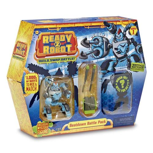 GIOCHI PREZIOSI GIOCATTOLI PERSONAGGI READY TO ROBOT BATTLE PACK CAPSULA+ROBOT+MINI BOT