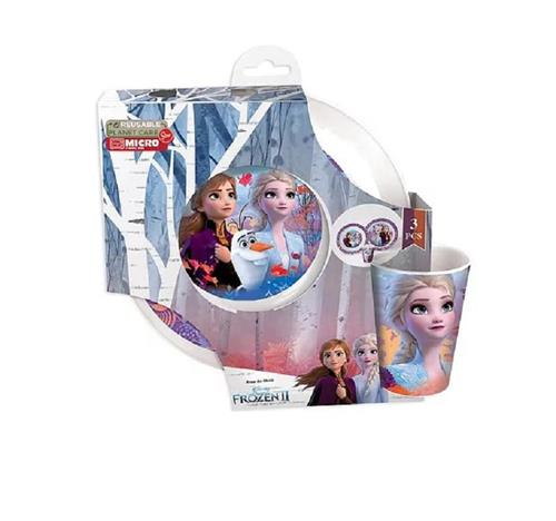 REAL TRADE ITALIA SRLS SCOLASTICA SET PAPPA FROZEN 2 SET PAPPA 3 PEZZI REAL TRADE