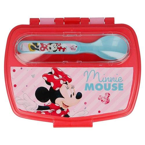 REAL TRADE ITALIA SRLS SCOLASTICA SET PAPPA MINNIE PORTAMERENDA + POSATE REAL T.